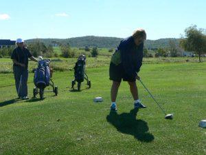 Debbie Golfing